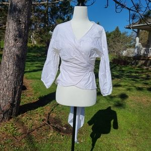 White Tie Up Blouse